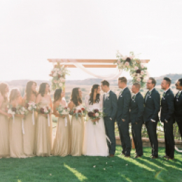 Ceremony View of Bridal Party